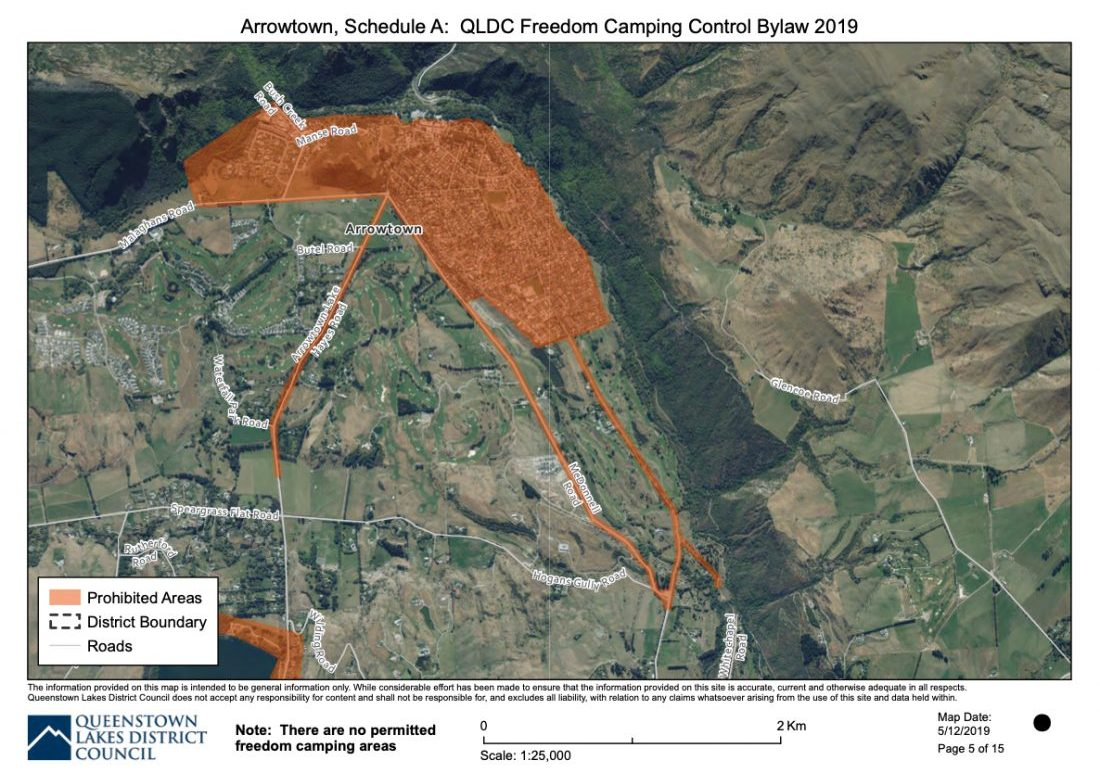 freedom camping map